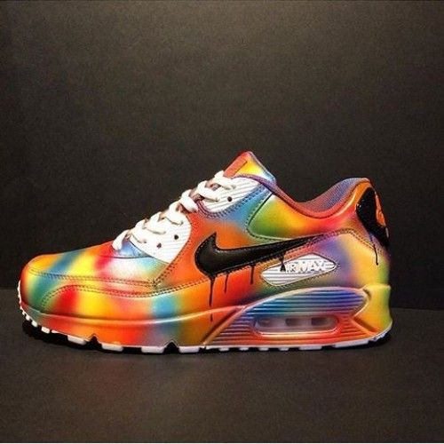 Cheap Nike Air Max 90 Candy Drip Rainbow Custom Womens & Mens Trainers Sale UK