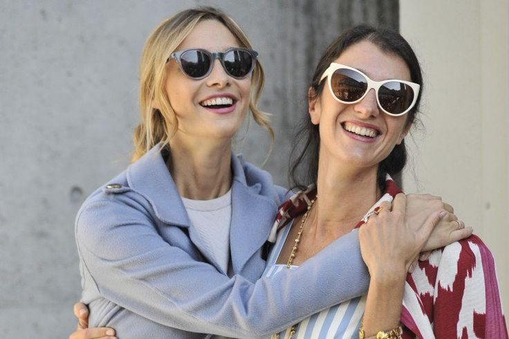 For most of the day Beatrice Borromeo Casiraghi hung out with her good friend, the designer Marta Ferri.