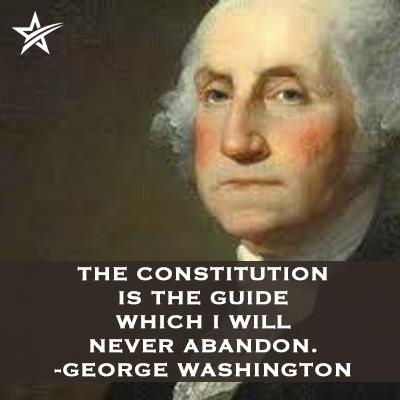 """""""The Constitution is the guide which I will never abandon."""" George Washington quote"""
