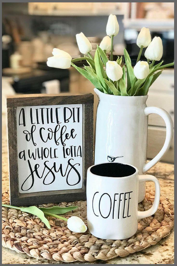 A little bit of coffee a whole lotta jesus sign farmhouse sign
