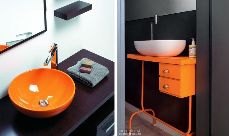 arancione bagno casa idee arredo