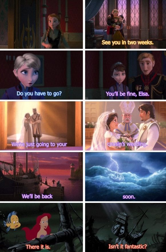 Headcannon excepted - Frozen - Tangled - The Little Mermaid