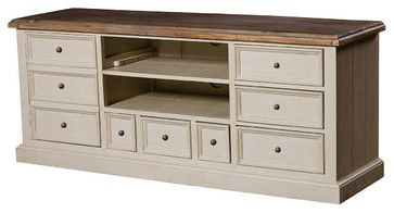 Cottage TV Cabinet-White - beach style - media storage - New York - Zin Home