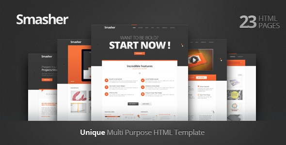 Smasher - Multi Purpose HTML Template