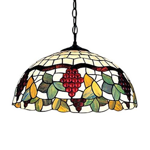 16 inch tiffany style grape fruit floral edge large pendant get fabulous discounts up to off at light in the box with coupon and promo codes