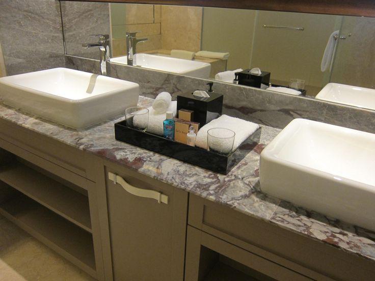 Bathroom amenity tray setup google search amenity tray for Bathroom tray set