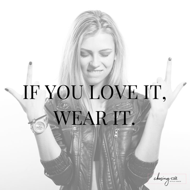 The ONLY fashion rule you will ever need!