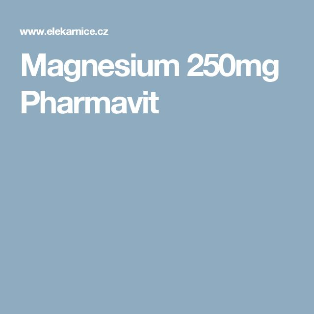 Magnesium 250mg Pharmavit