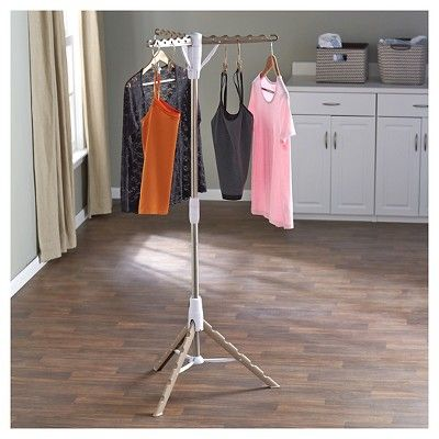 Household Essentials Standing Tripod Clothes Dryer - Tan, Silver