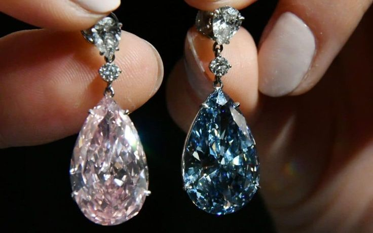 Auctioneer Sotheby's has today unveiled what is thought to be the most expensive pair of earrings in the world, valued at a staggering £55 million.