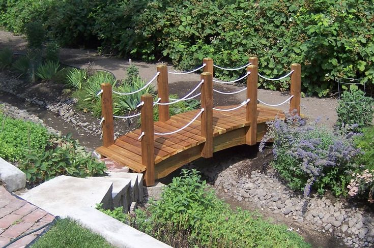 How to make a small wooden bridge woodworking projects for Fish pond bridges