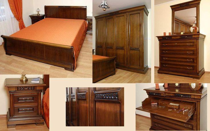 Mobila / Mobilier Dormitor clasic lemn masiv MILAN