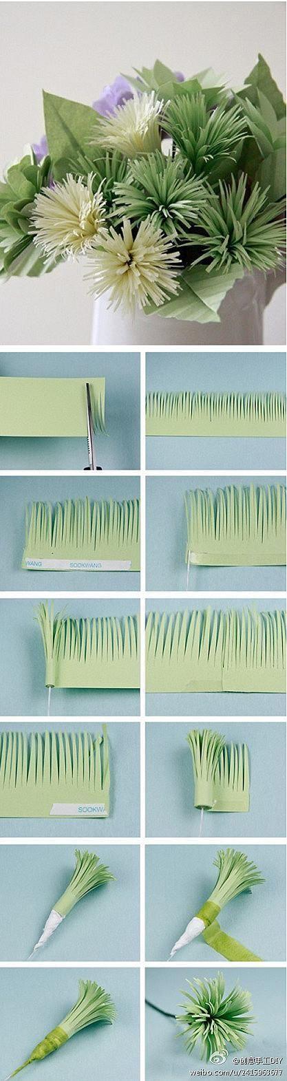 #papercraft #flowers. DIY Tutorial: Fabricu Flower / DIY Paper Flower Centerpiece - Bead