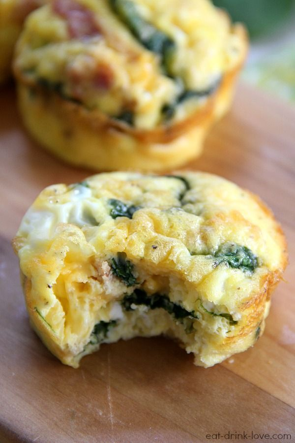 These low-card egg muffins are a healthy breakfast option for people of all ages.