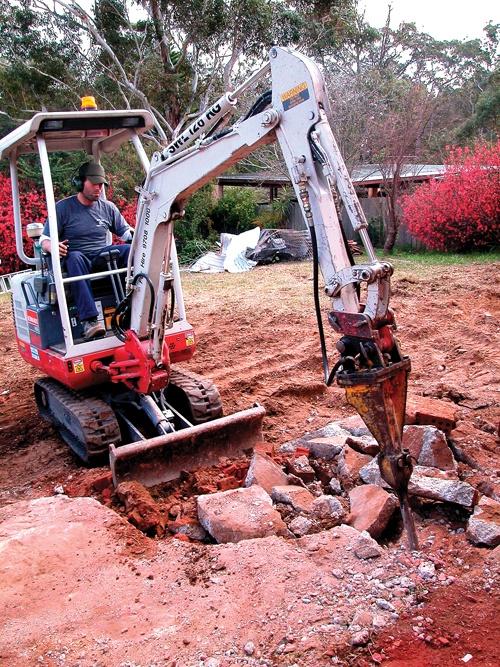Excavator Hydraulic Hammer Attachment