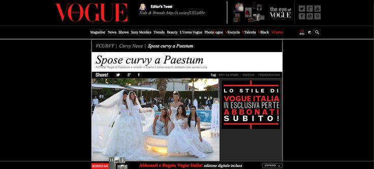 """Spose curvy a Paestum""  L'evento organizzato dal gruppo Amatelier. http://www.vogue.it/vogue-curvy/curvy-news/2013/05/spose-curvy-a-paestum"