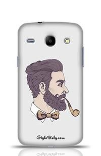 Bearded Man With Pipe Side View Samsung Galaxy Core i8262 Phone Case