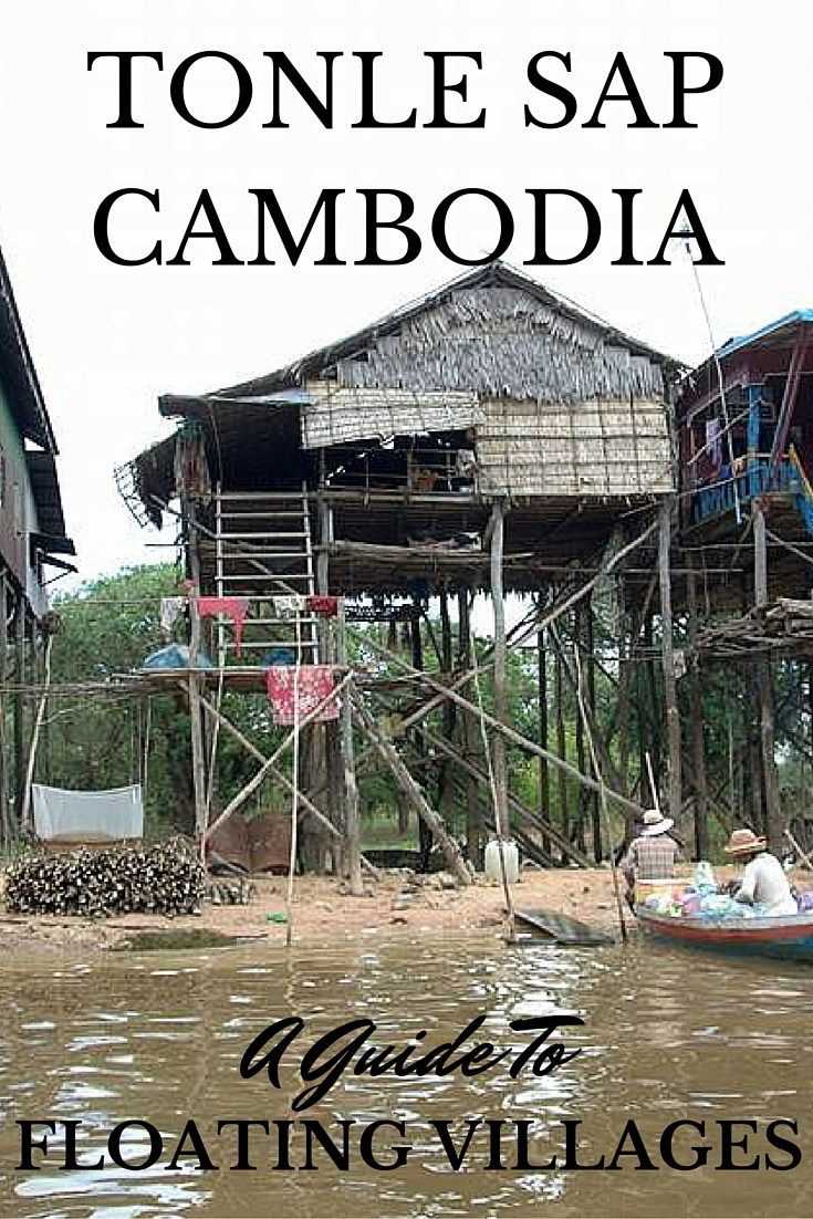 Almost slap bang in the middle of Cambodia you'll find Lake Tonlé Sap, the country's largest lake. In fact it is a whopping 2,700 square kilometres! At the north of the lake is the town of Siem Reap and at the south, the Cambodian capital, Phnom Penh.