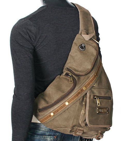 canvas single men Buy apg men's brown canvas leather single shoulder cross body bag military messenger school travel hiking satchel: electronics - amazoncom free delivery possible on eligible purchases.
