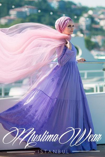 PURE COTTON EMBROIDERY DRESS LILA – Muslima Wear