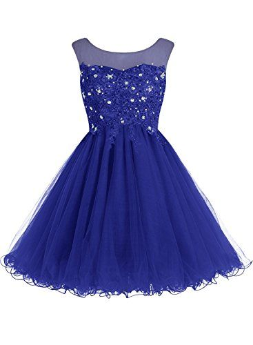 EllieHouse Women's Lace Short Prom Gown Homecoming Dress…
