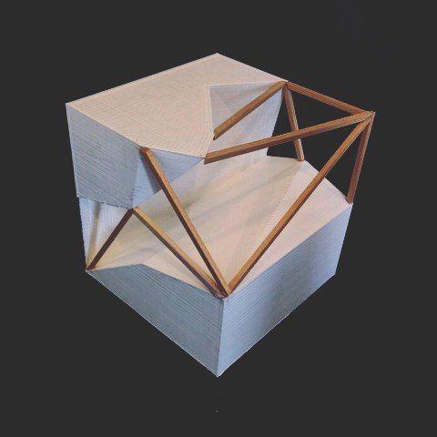 Parametic Design is difficult but so rewarding when complete. #Architecture #sunyorangearchitecture #parametricdesign #cube #tetrahedron #Design