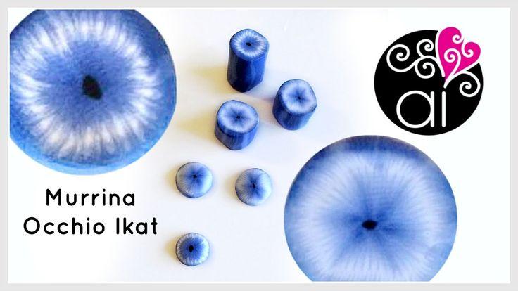 Ikat Eye Cane | Murrina Occhio Ikat | Polymer Clay Tutorial