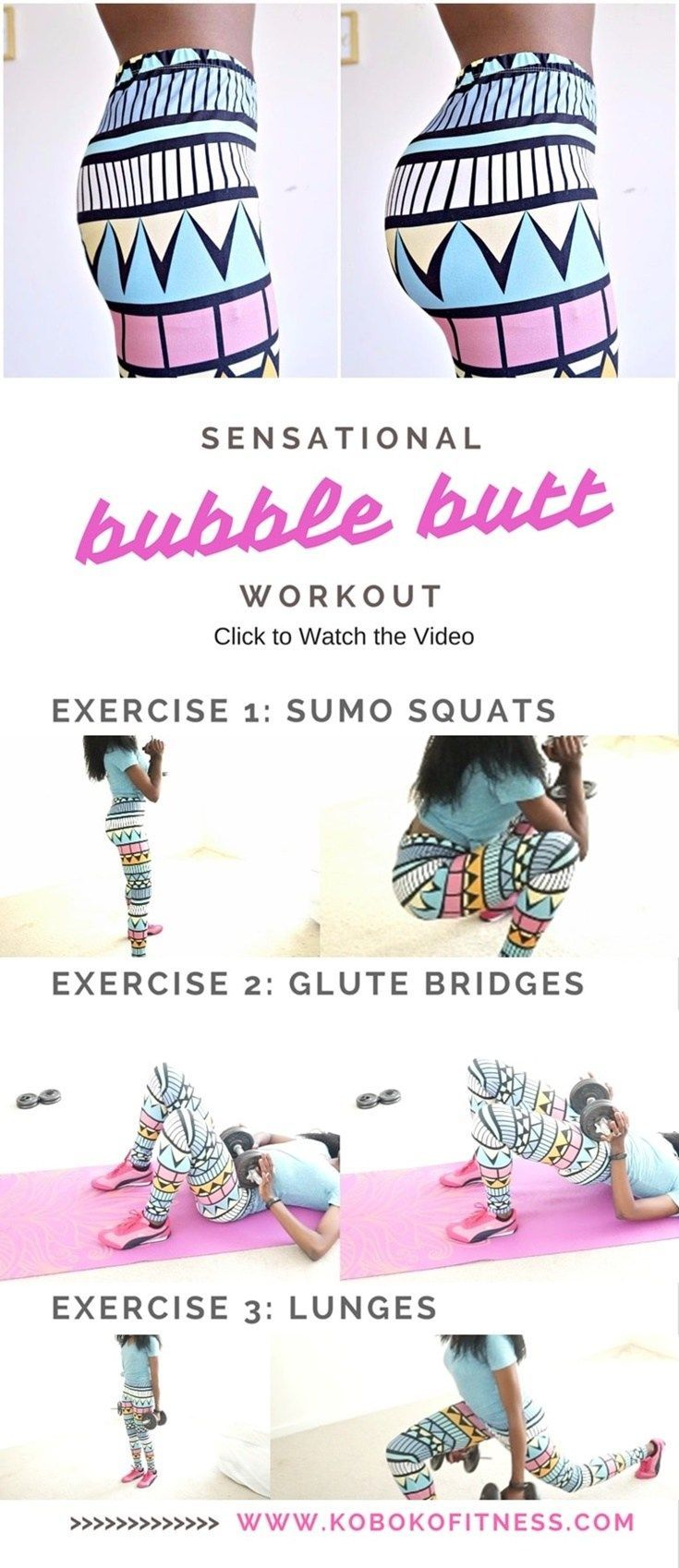You will LOVE the results from this amazing butt workout with weights! Get that bubble butt you have always wanted!