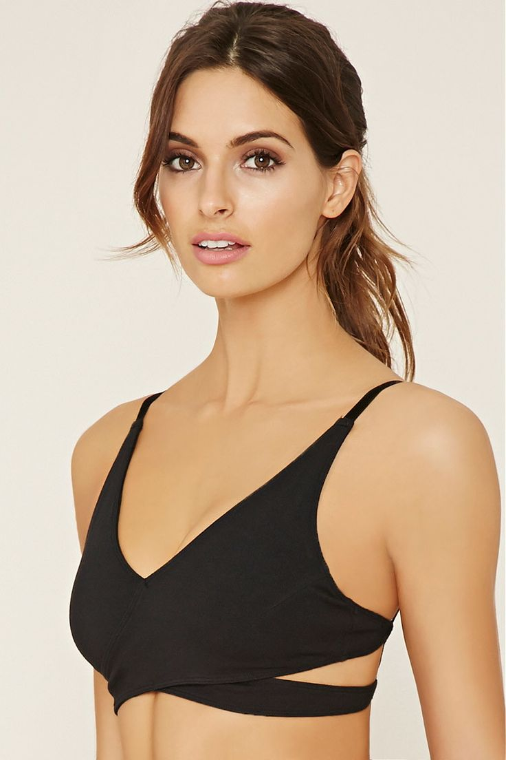 Crafted from a stretch knit, this low impact sports bra ...