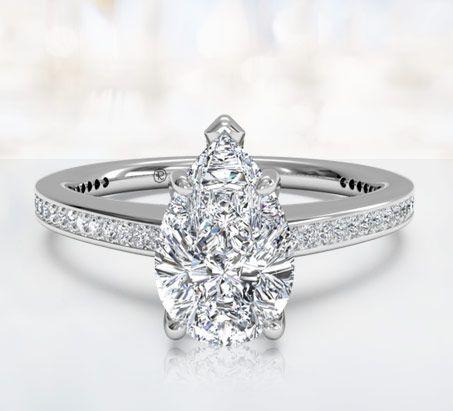 pear cut rings New setting for my pear diamond