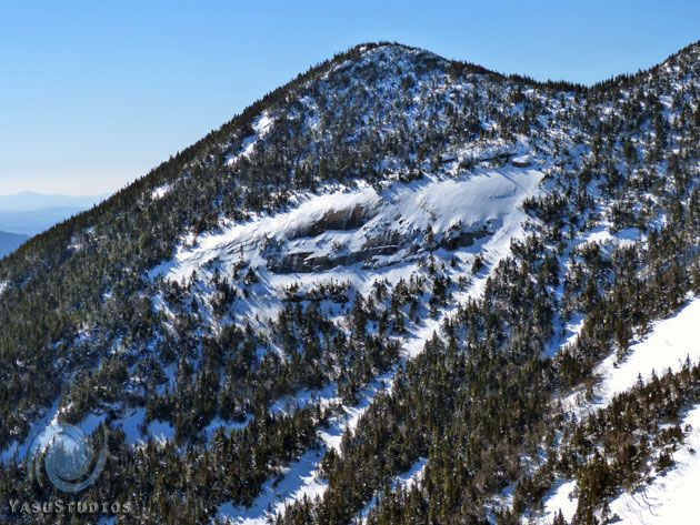 View  of Gothics Mtn on east face approach