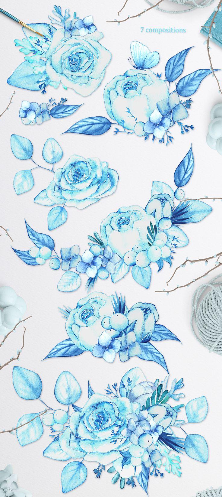 Winter bouquet - watercolor set on Behance