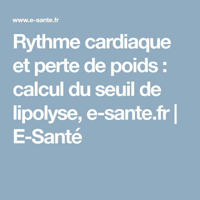 Rythme cardiaque et perte de poids : calcul du seuil de lipolyse, e-sante.fr | E-Santé