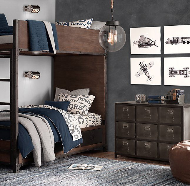Teen S Bedroom With Feature Grey Wall And Monochrome Bed Linen: 17 Best Ideas About Gray Boys Bedrooms On Pinterest