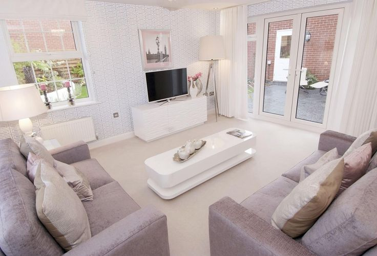 Living room in The Moorecroft a five bedroom David Wilson home for sale in Quorn
