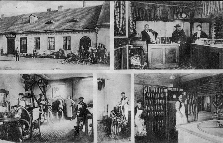 1908,Nýřany, řezník Hudlický. zdroj: nyrany.cz
