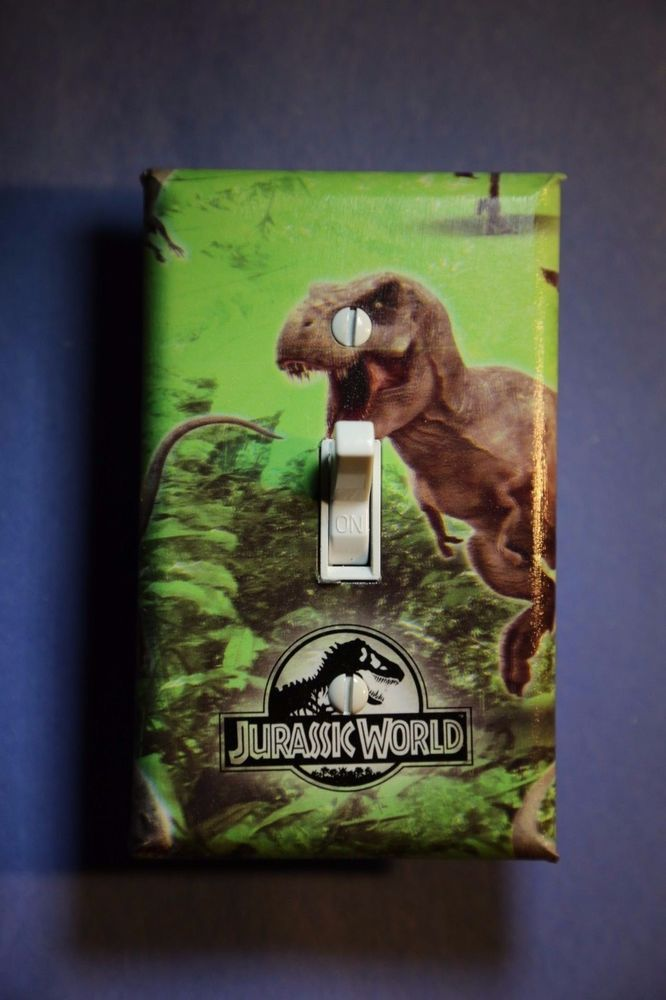 Spectacular Jurassic World Dinosaur Light Switch Cover boys kids room child decor Dino Unbranded