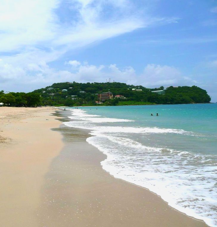 Castries, St. Lucia. Beaches in the area: Malabar Beach, Choc Beach, and Labrelotte Bay.