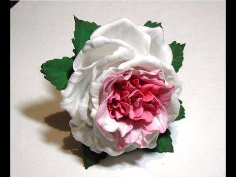 Роза из фоамирана на резинке, видео мастер-класс