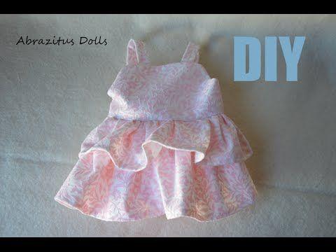 DIY - Parte 04 - Como hacer un lindo vestido para muñeca de tela - YouTube