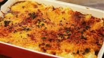 This cheesy casserole has moist chunks of fish in a rich white sauce and is a great way to use up leftover mashed potatoes.