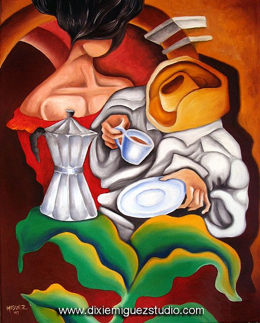 cuban musicians artwork | Cafe cuban art painting. Cuban artist. Miguez | Flickr - Photo Sharing ...