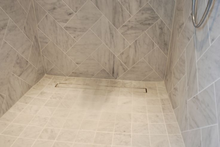 Beautiful Custom Designed Porcelain Tile Shower Featuring