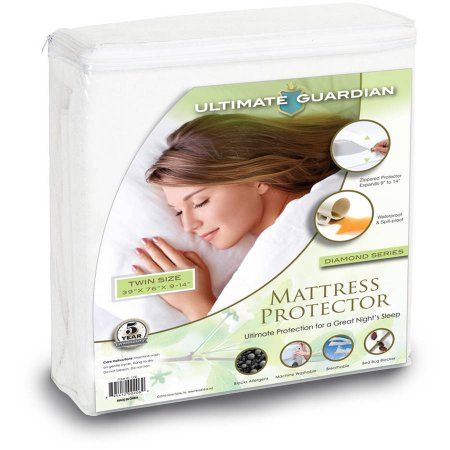 Ultimate Guardian, Lab Tested, 100 Percent Bed Bug Proof Mattress Protector, White