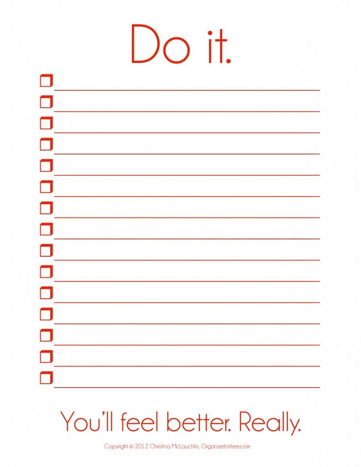 Blank to do list template things to do template pdf