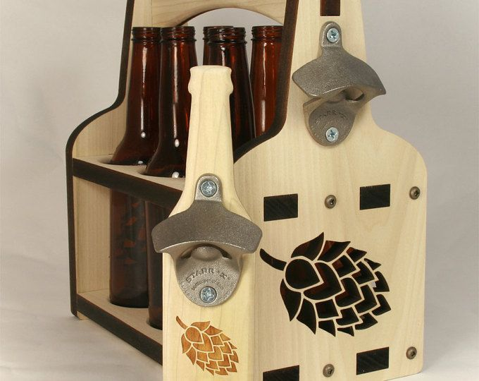 Bottle Caddy Beer Holder Great Lakes Wooden Beer Tote Etsy Beer Bottle Carrier Beer Holders Bottle