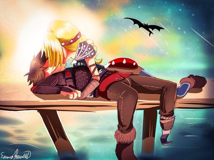 "emmalennyeddie: ""~Kiss On The Docks "" < Hiccstrid. :)"