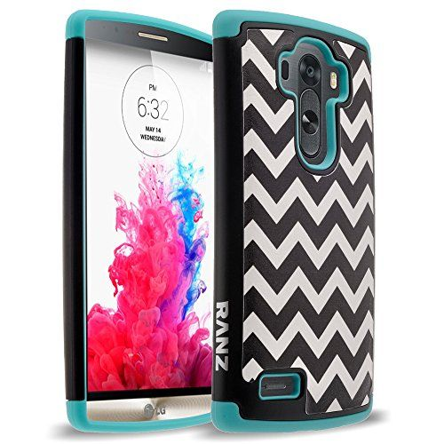 LG G4 Case, RANZ® Wave Pattern Print Desgin Impact Dual Layer Shockproof Bumper Hard Case Cover For LG G4 (TEAL)