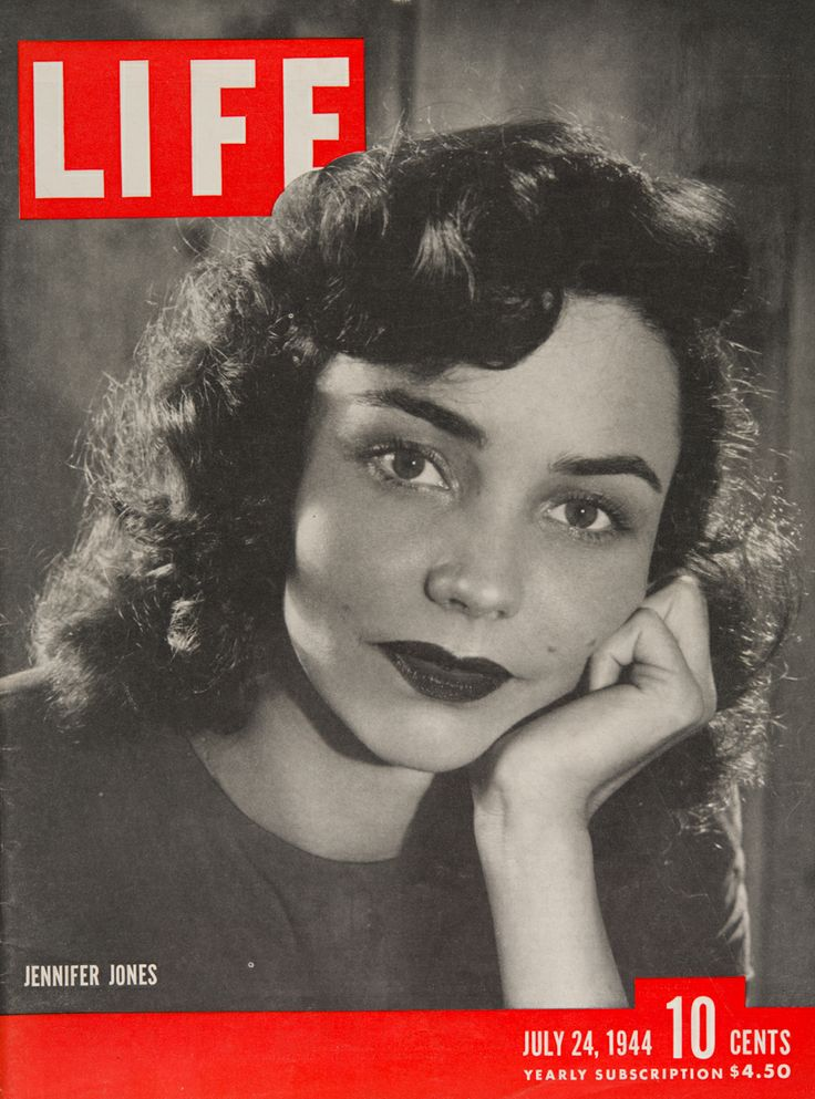 "Life Magazine cover, ""Jennifer Jones"", July 24, 1944"