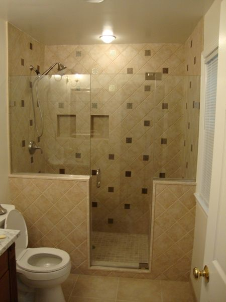24 best 5x8 baths images on pinterest bathroom bathrooms and half bathrooms for Bathroom designs for small bathrooms layouts